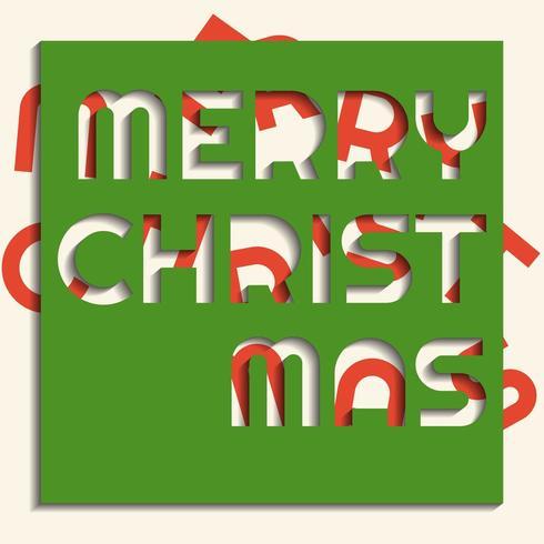 Espressione di buon Natale in stile taglio carta vettore