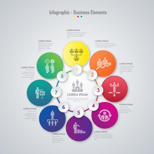 Progettazione di elementi di business infografica vettore