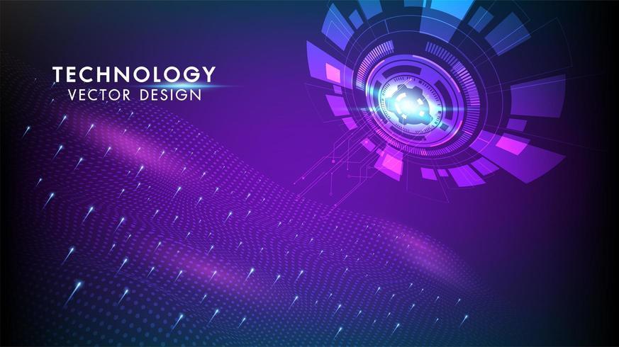 Sfondo di tecnologia Concetto di comunicazione Hi-tech vettore