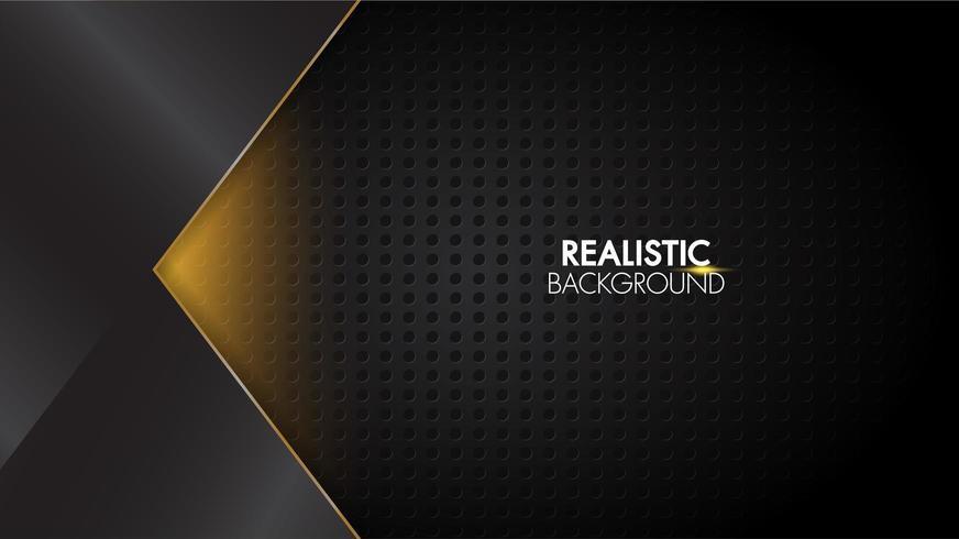 Sfondo nero lucido futuristico astratto lucido con griglia vettore
