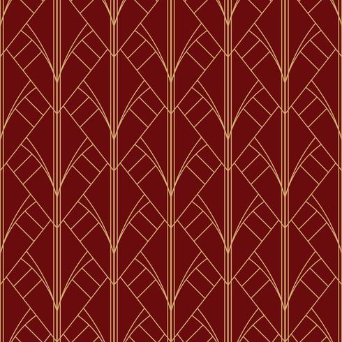 modello marrone rossiccio rosso geometrico semplice senza cuciture di art deco vettore