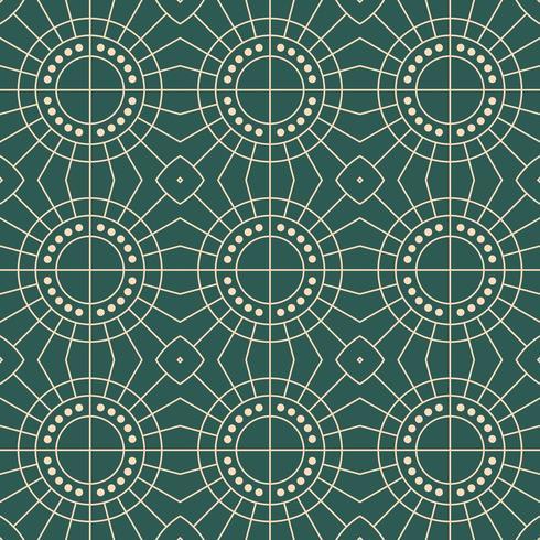 modello geometrico del sole del modello semplice di art deco vettore