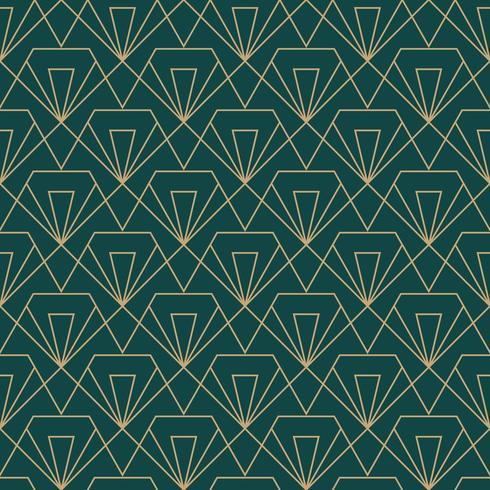 semplice motivo geometrico senza cuciture art deco con taglio a diamante vettore