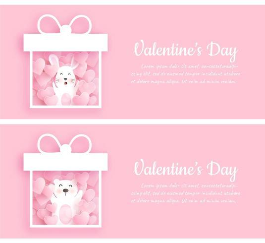 Set di banner di San Valentino. vettore