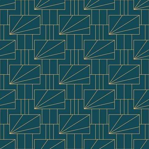Motivo geometrico semplice art deco senza soluzione di continuità vettore
