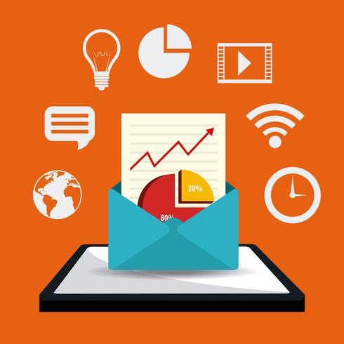 Concetto di design di marketing digitale vettore