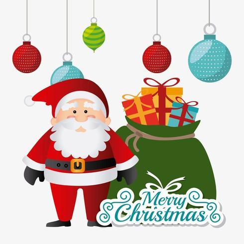 Merry Christmas card design. vettore