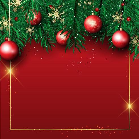 Sfondo cornice albero di Natale vettore