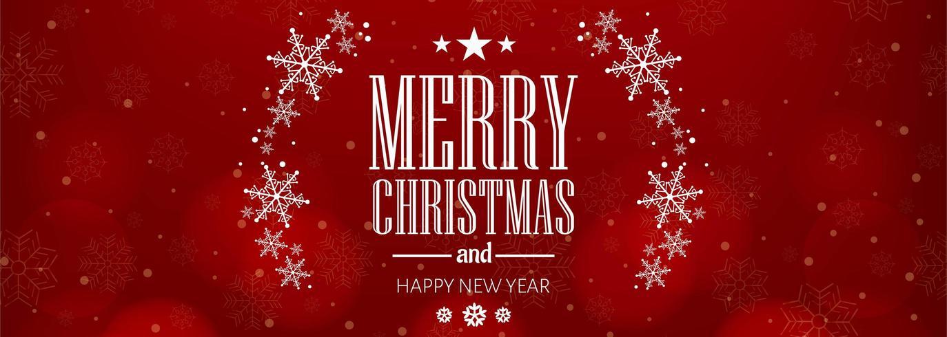 Bello fondo dell'insegna di celebrazione della carta del fiocco di neve di Natale vettore