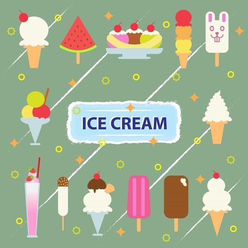 Illustrazione vettoriale della collezione di gelati