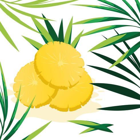 Fetta di design di ananas vettore