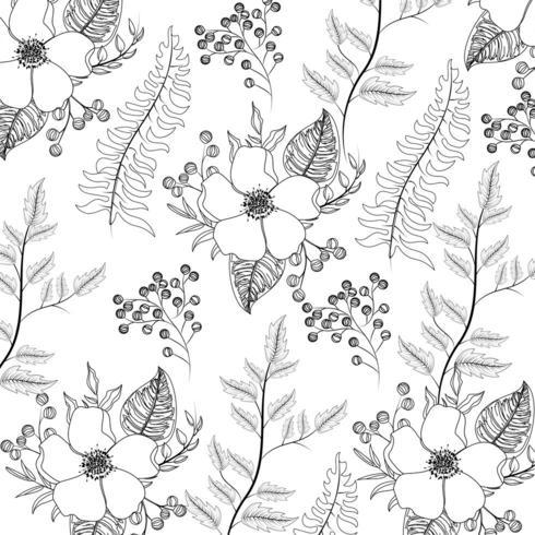 fiori esotici con rami lascia sfondo vettore