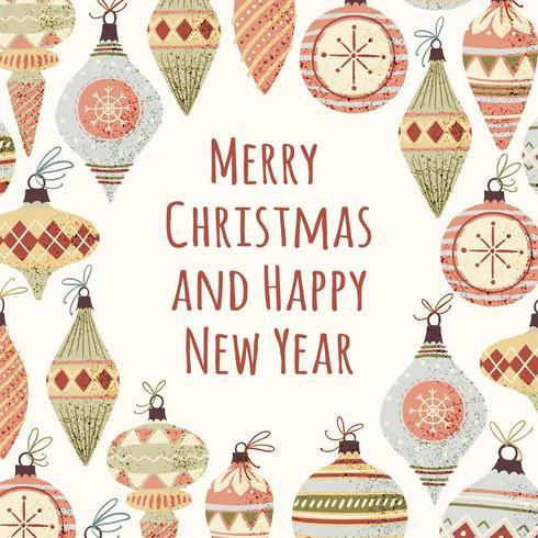 Cartolina d'auguri di Natale vettore