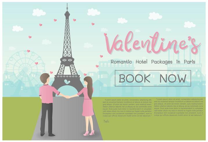 Concetto di San Valentino per il viaggio vettore