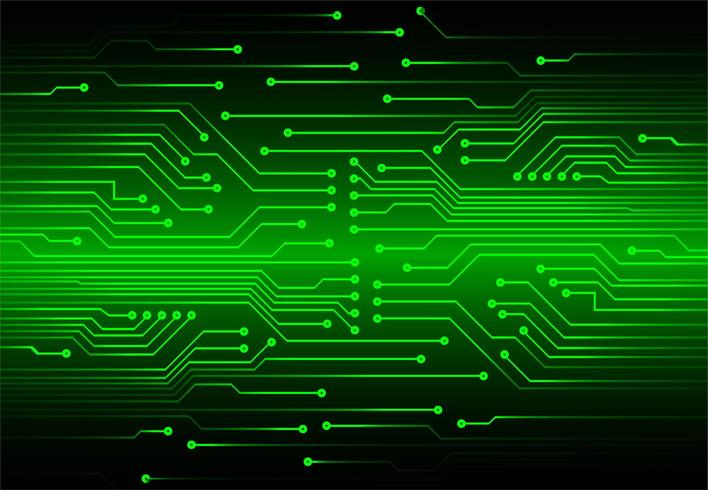 Concetto di circuito cyber verde vettore