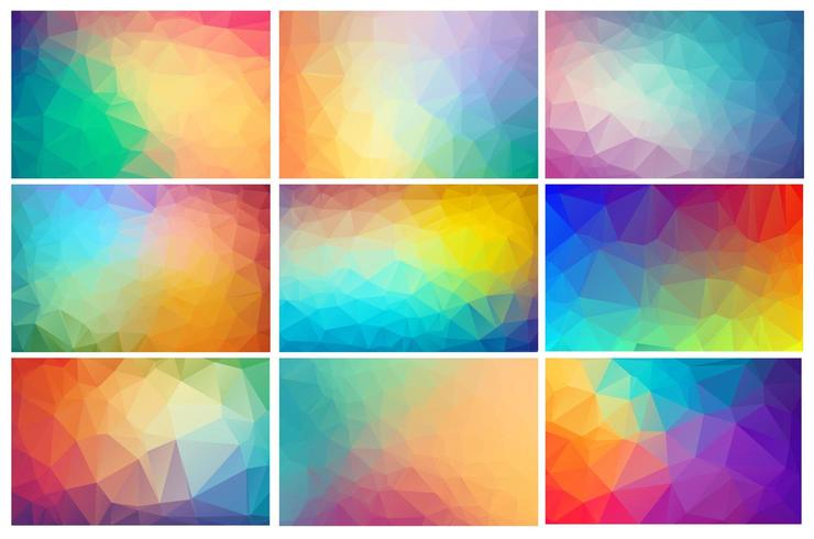 Sfondo di cristallo poligonale multicolore vettore