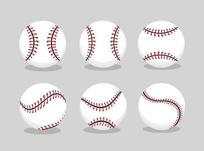 impostare lo sport della palla da baseball in una squadra di professionisti vettore