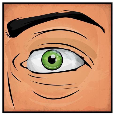 Fumetti Man Eyes vettore