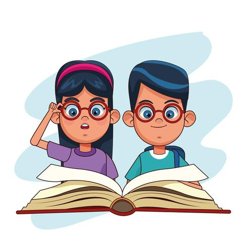 Cartoni animati per bambini e libri vettore