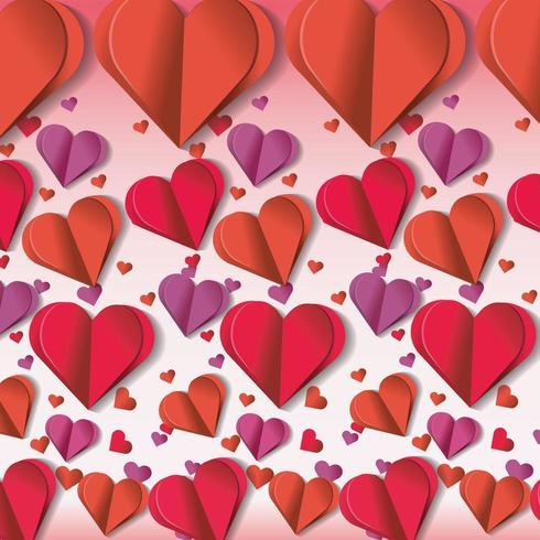 decorazione di cuori per la celebrazione dell'evento di San Valentino vettore