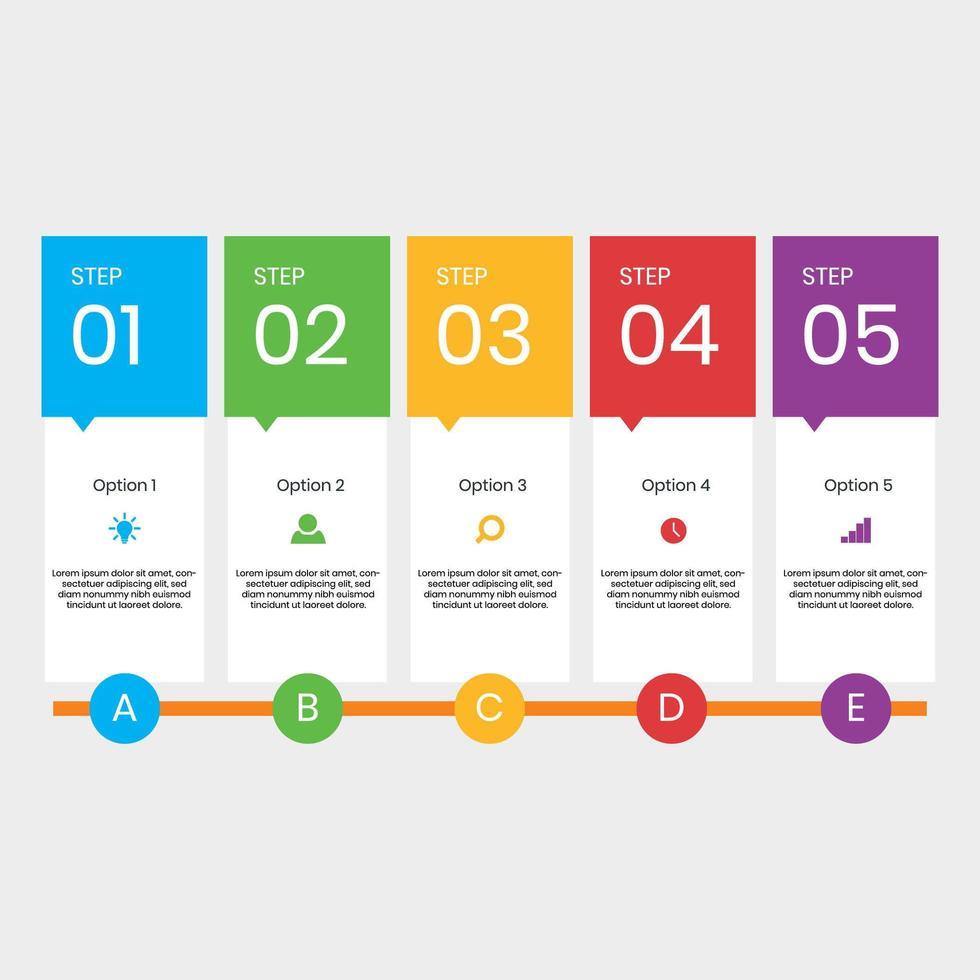 Cronologia moderna infografica vettore