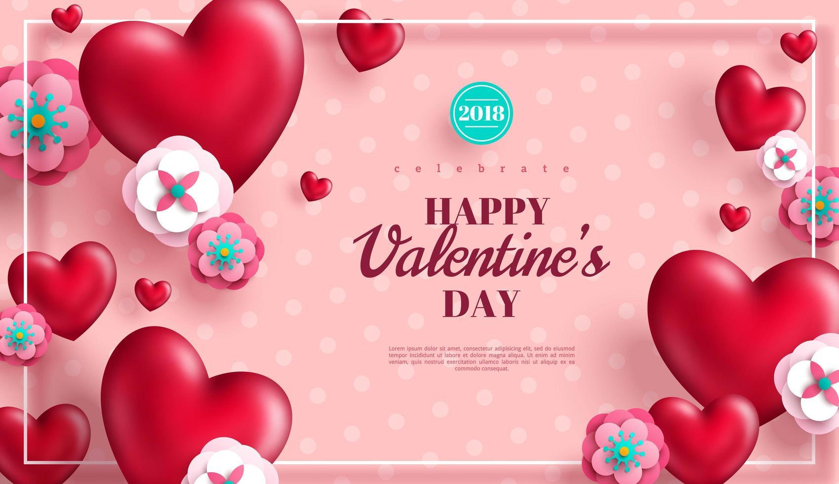 San Valentino concetto rosa sfondo vettore