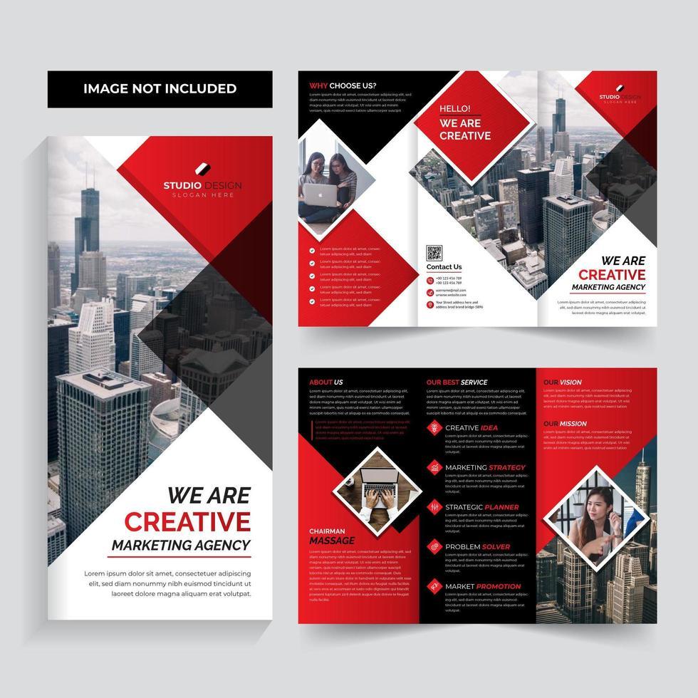 Progettazione del modello dell'opuscolo di affari corporativi di colore rosso vettore