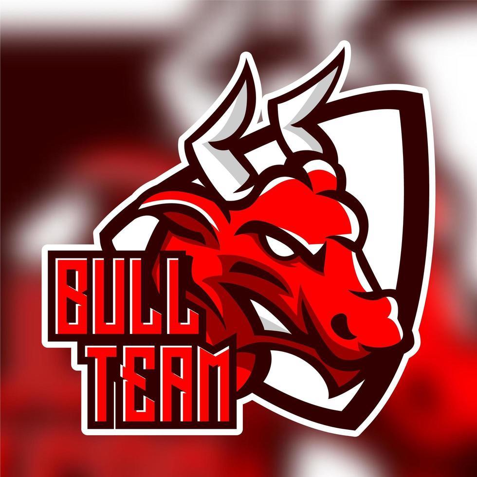 Emblema del personaggio dei giochi di tori vettore