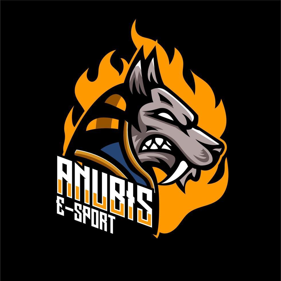 Anubis esports badge distintivo del personaggio vettore
