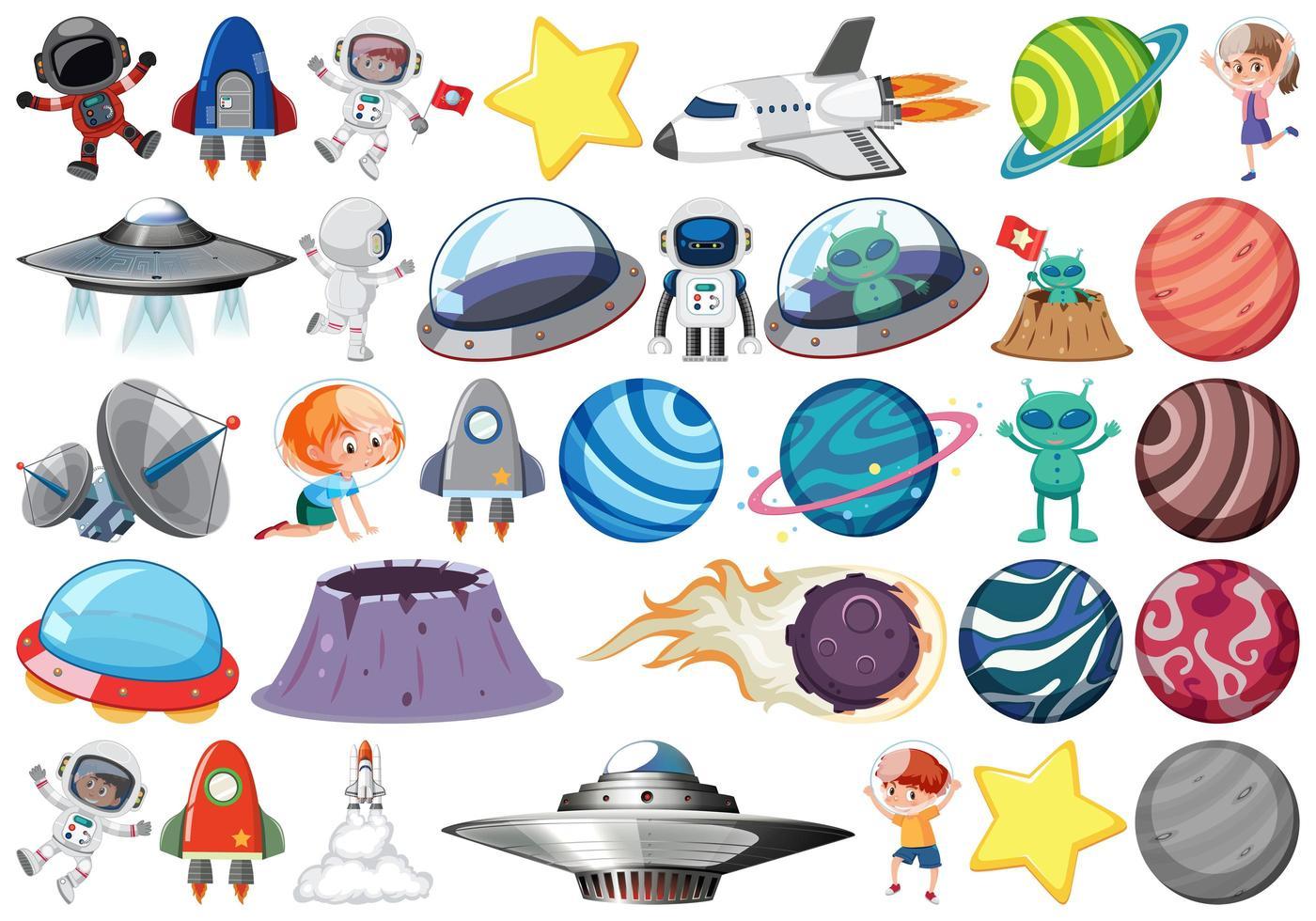 Set di sistema solare vettore