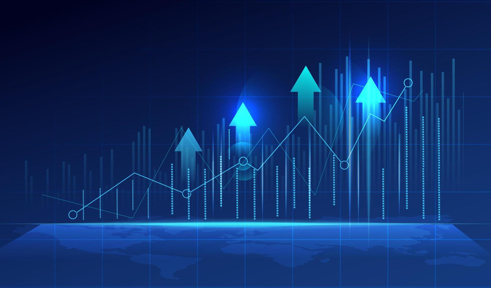 Grafico del grafico commerciale vettore