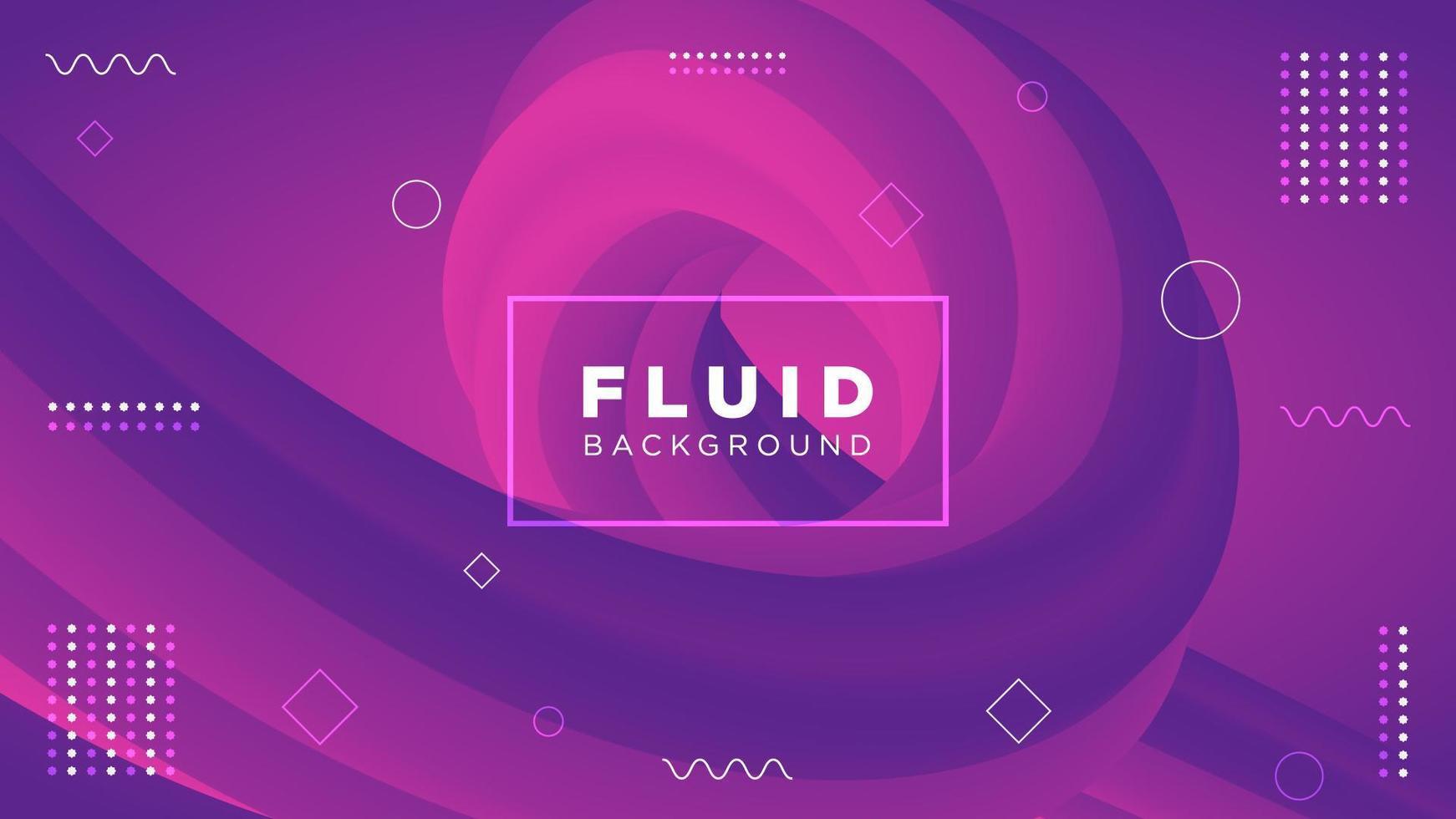 Sfondo sfumato fluido astratto viola e rosa vettore
