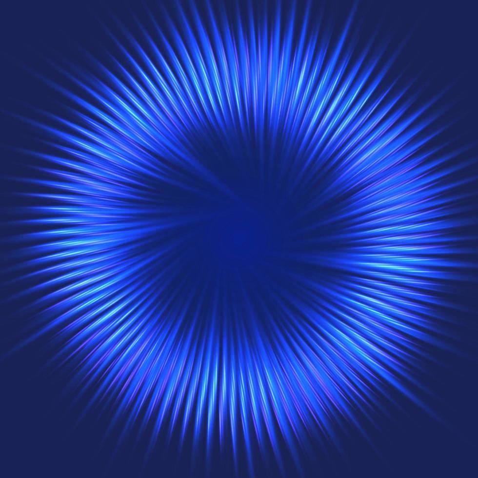 Disegno astratto blu starburst vettore