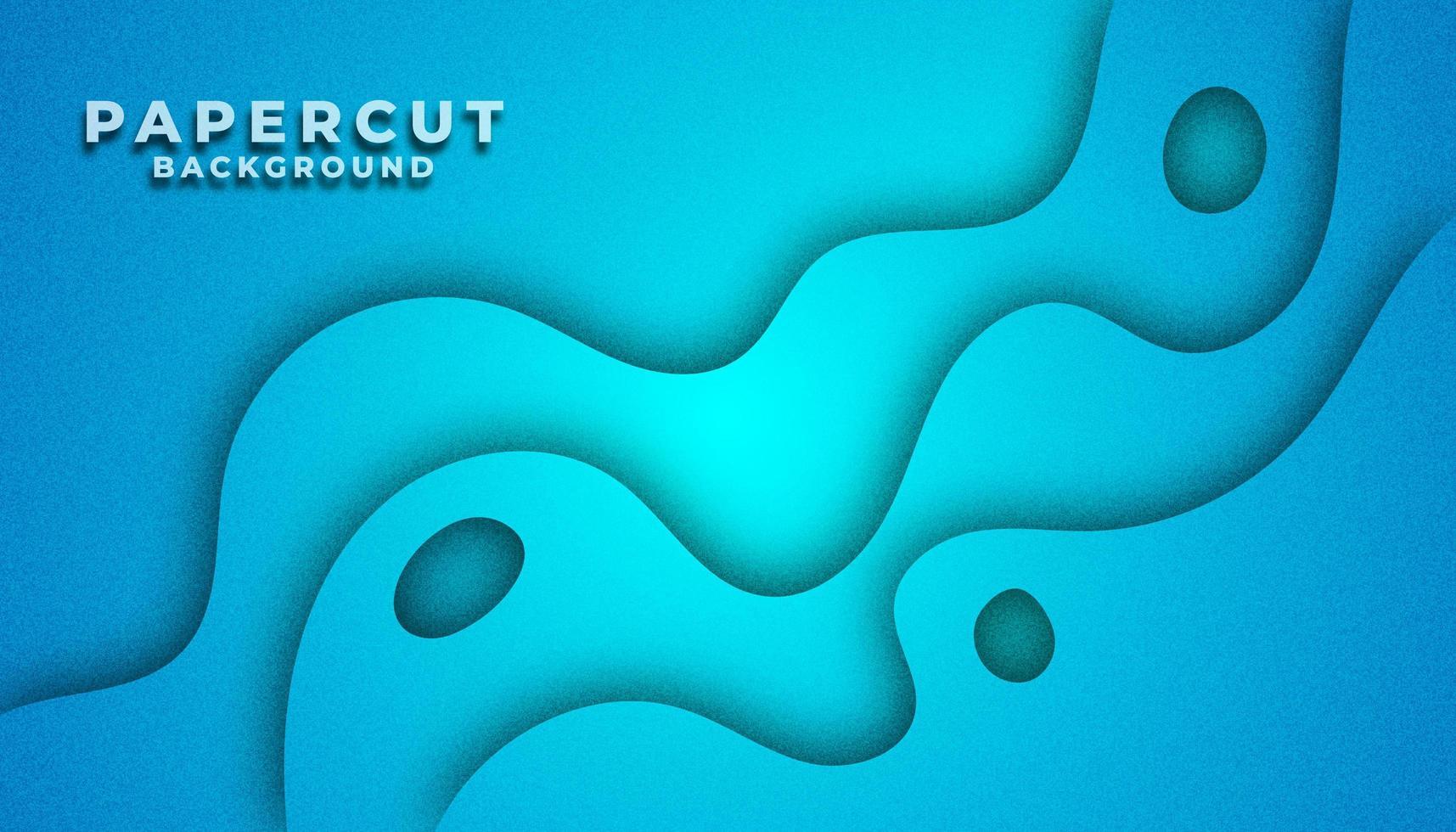 Blue Cut Paper a strati di sfondo vettore