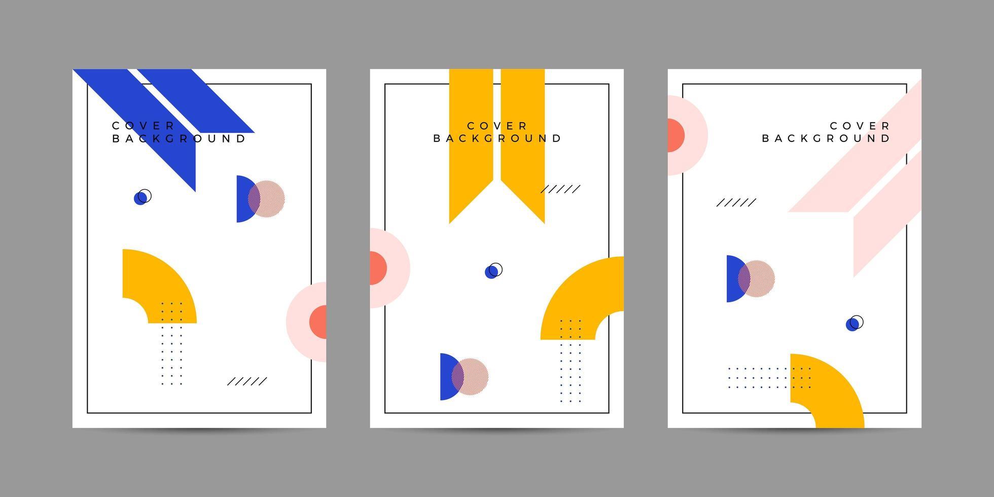 Memphis cover design geometrico vettore