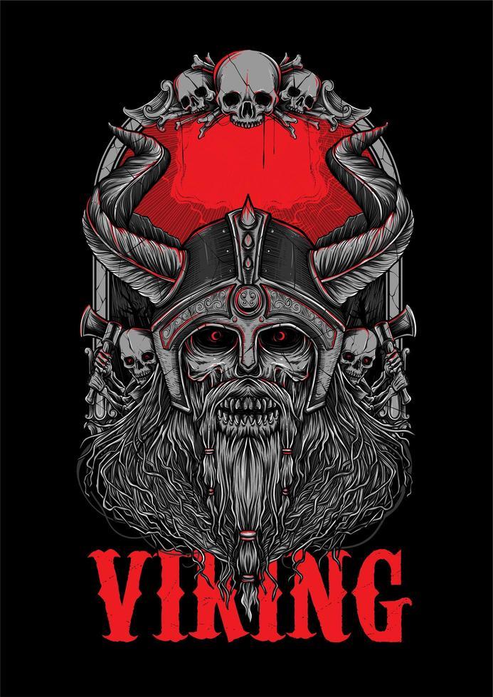 Illustrazione di Viking Corpse Bone Zombie vettore