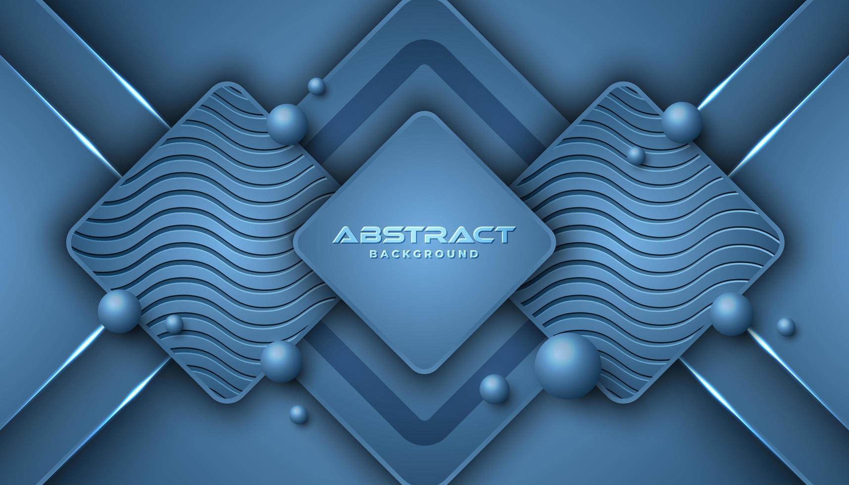 Sfondo blu classico di forme geometriche sovrapposte vettore