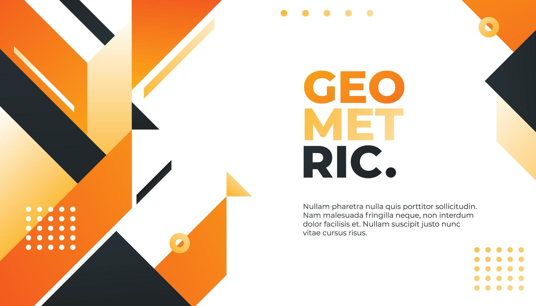 Minimo sfondo geometrico arancione e nero vettore