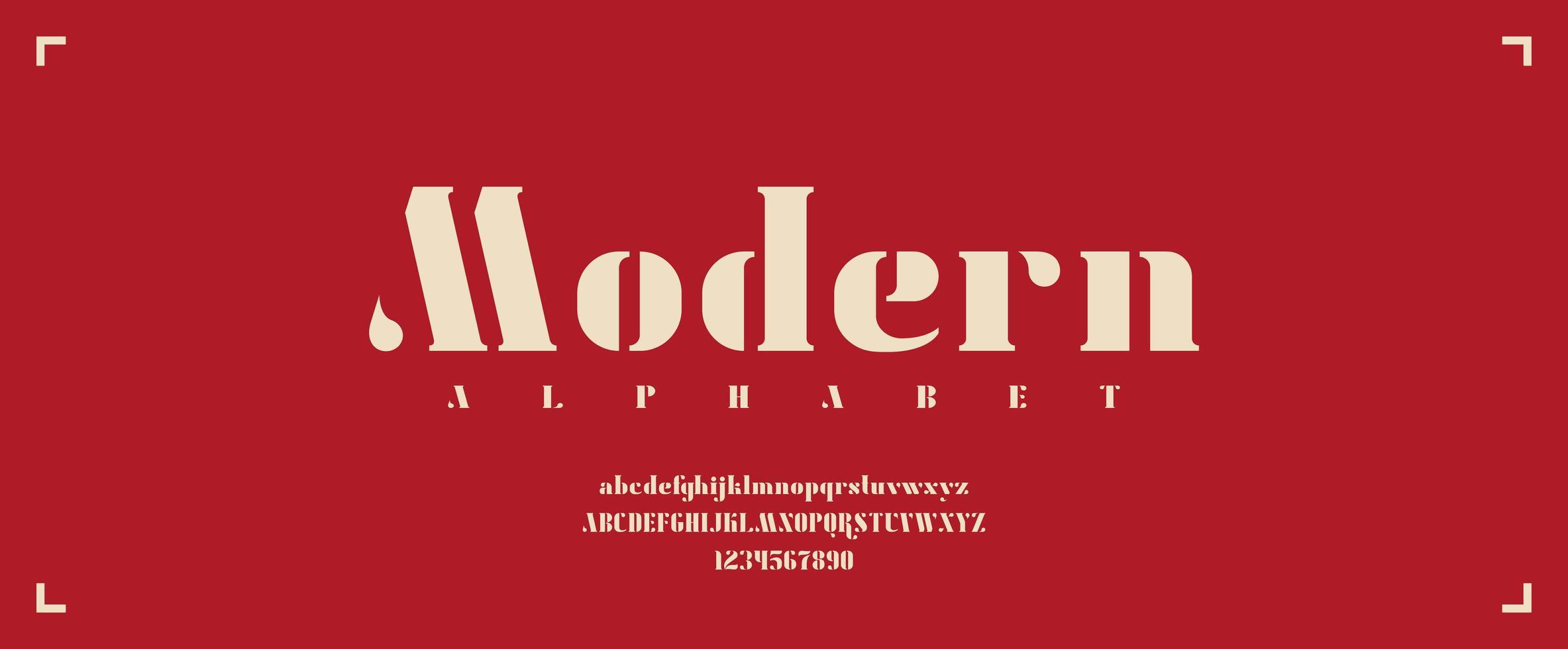 grassetto serif carattere moderno con lettere maiuscole e minuscole vettore