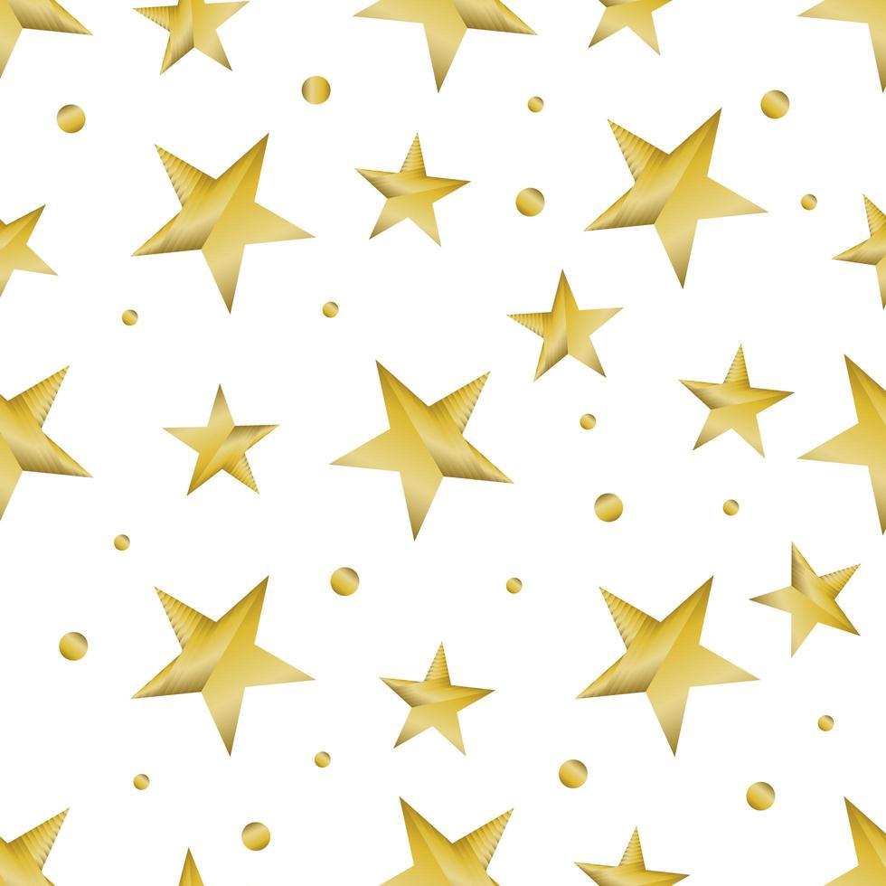 motivo a stella lucido dorato vettore