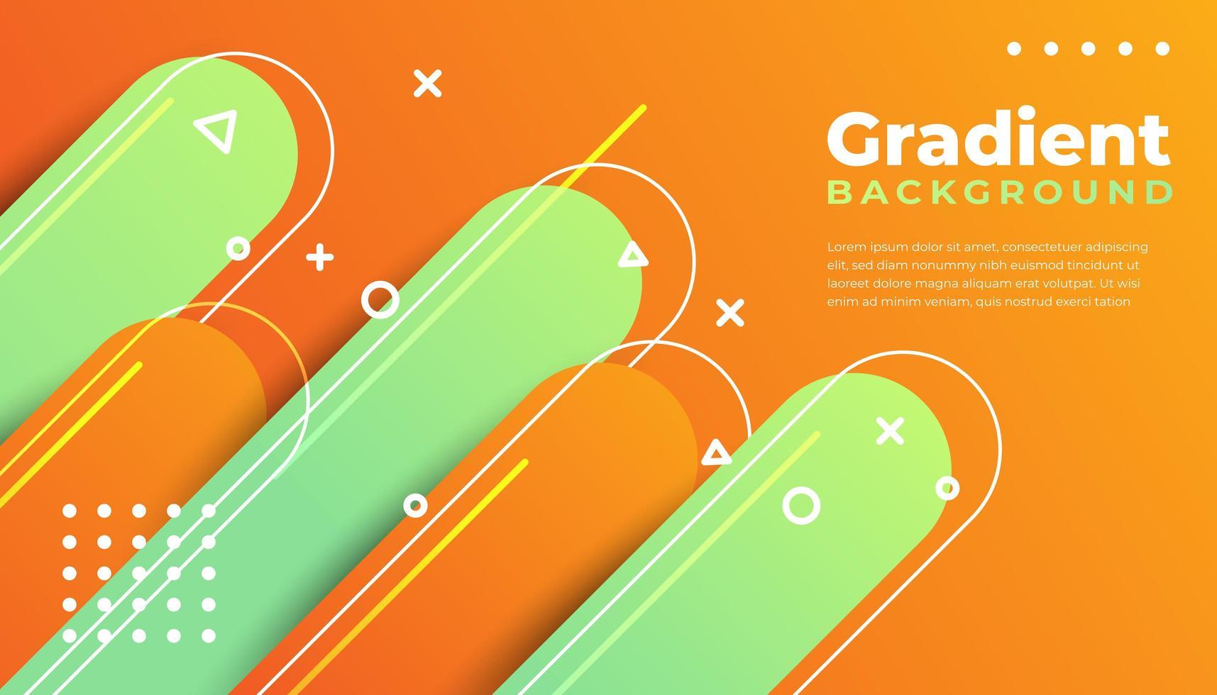 gradiente di sfondo geometrico e arrotondato vettore