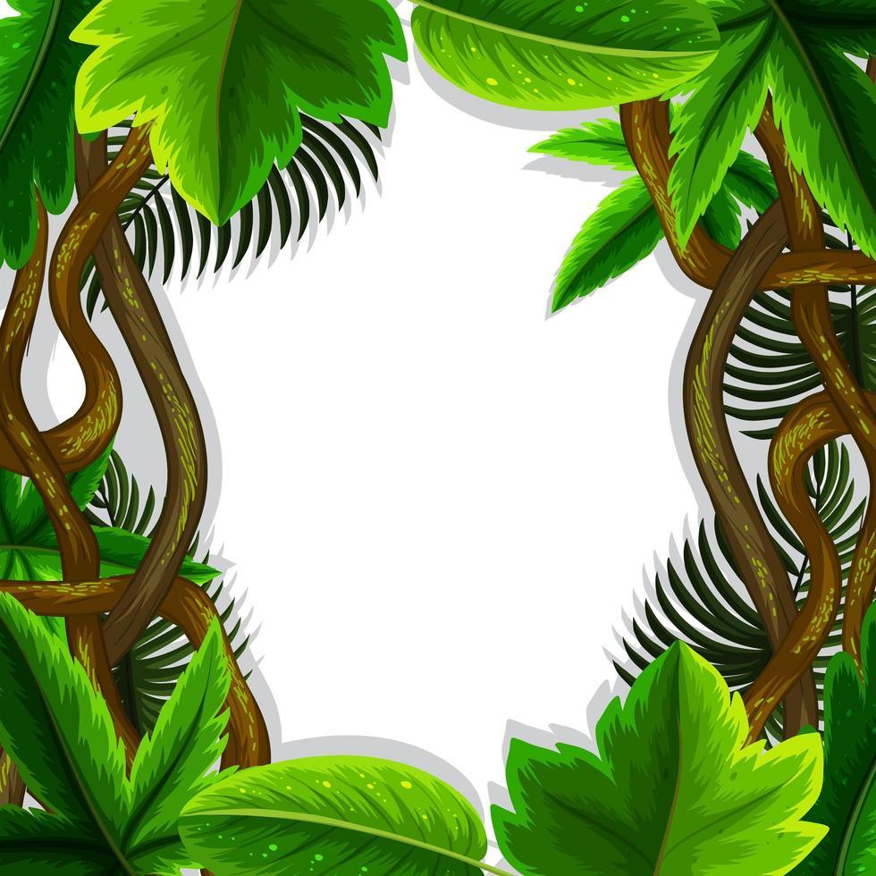concetto di cornice di foglie di giungla vettore