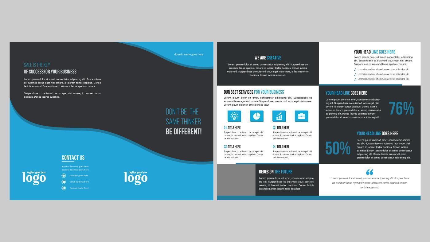 modello di progettazione brochure creativo con onde colorate vettore