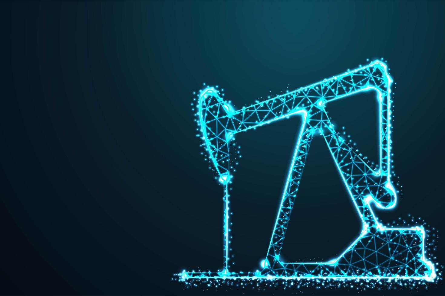 disegno stella blu notte di estrazione dell'olio vettore