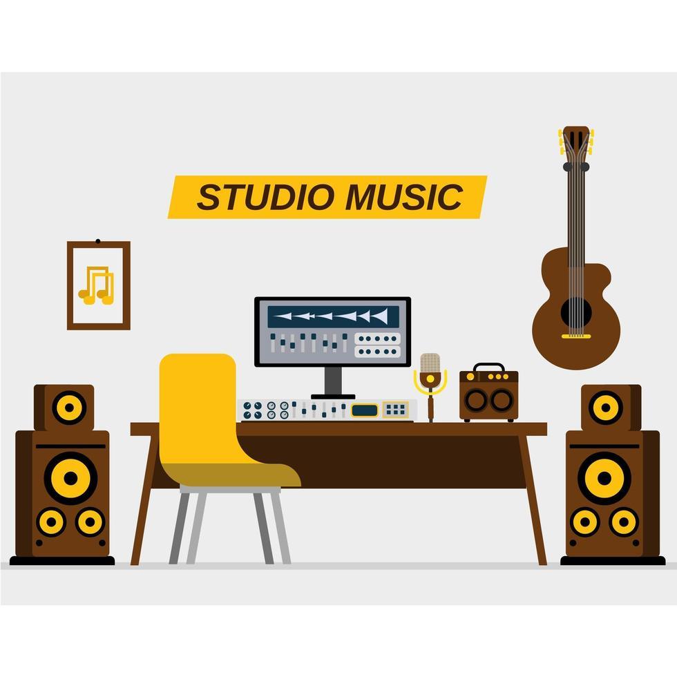 studio di registrazione musicale vettore