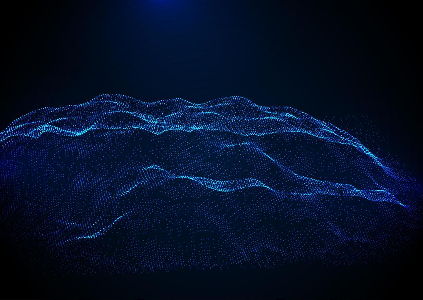 sfondo astratto terreno di punti cyber vettore
