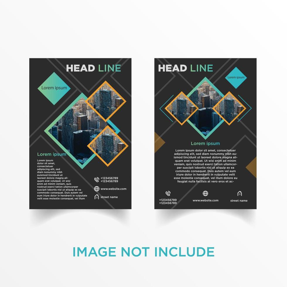 set di brochure volantino diamante geometrico vettore