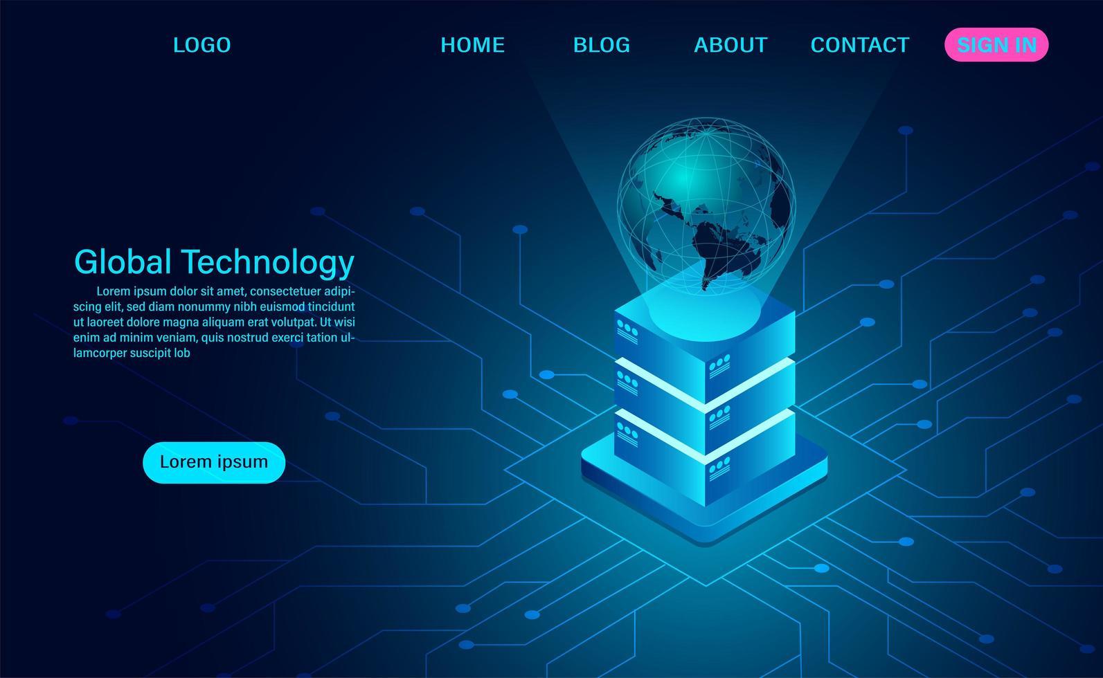 tecnologia digitale globale vettore