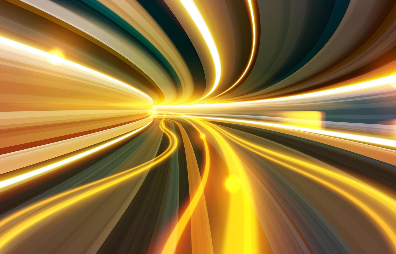 effetto otturatore lento attraverso il wormhole vettore