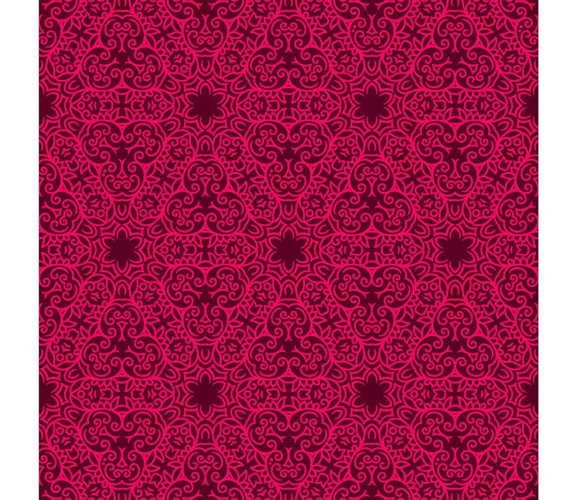 marrone e rosa brillante motivo geometrico vettore